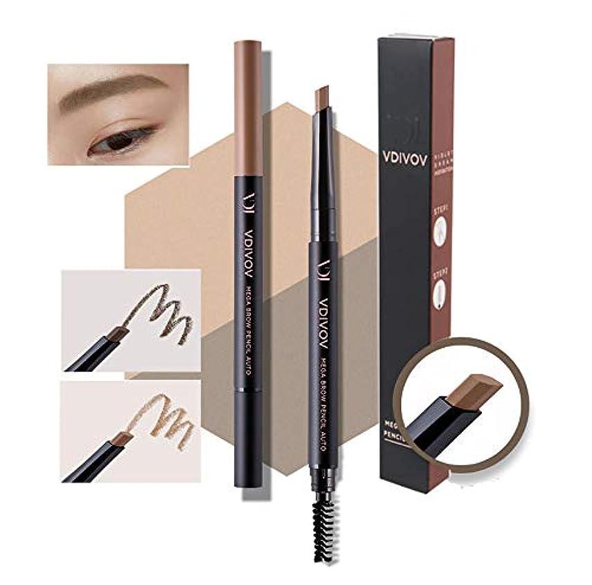 [VDIVOV] メガブロウペンシルオートX 1EA (#05グレーブラウン)/Mega Brow Pencil Auto X 1EA (#05 Grey Brown)/ビルトインシャープナー/Built-in Sharpeners/韓国化粧品/Korean Cosmetics [並行輸入品]