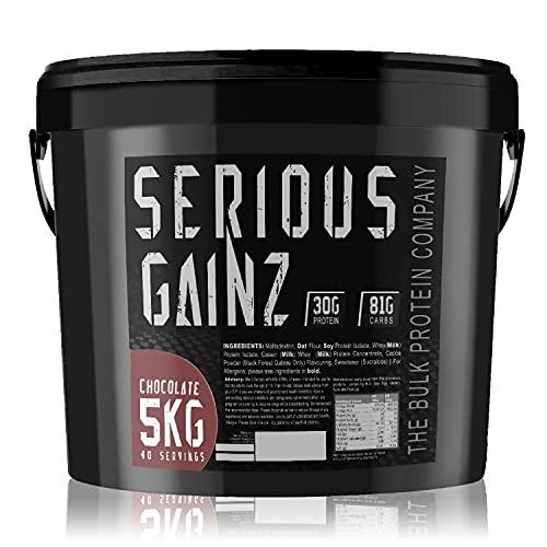The Bulk Protein Company - SERIOUS GAINZ Whey Protein Powder 5kg - Weight...