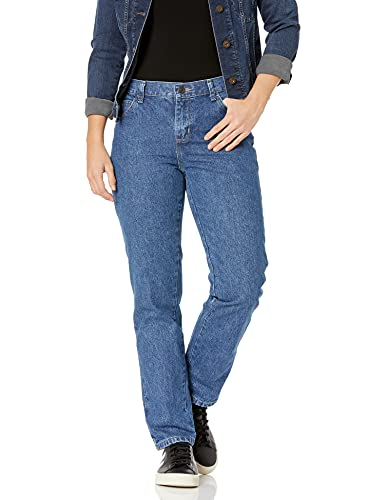 Lee Women's Relaxed Fit All Cotton Straight Leg Jean, Livia, 2 Petite