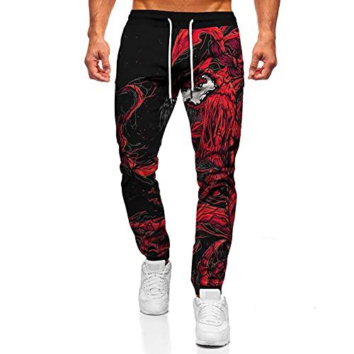 Pantalones de Hombre con Estampado Divertido Hip Hop Streetwear Punk Pantalones Casuales Pantalones Deportivos High Street-1_L