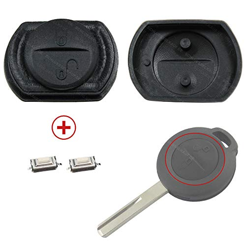 Kompatibel für Mitsubishi Colt & Smart forfour 454 Schlüssel Gummi Tastenfeld + 2X Mikrotaster Neu