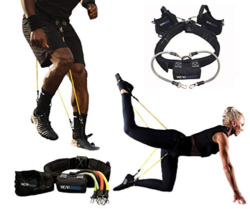 WearBands 5-Level Resistance Bands Training and Exercise System
