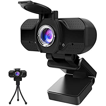 1080P Webcam with Microphone and Privacy Cover Computer Camera with Tripod Web Cameras for Computers Laptop Video Calling Recording Conferencing Plug and Play Web Cam USB Camera for Zoom