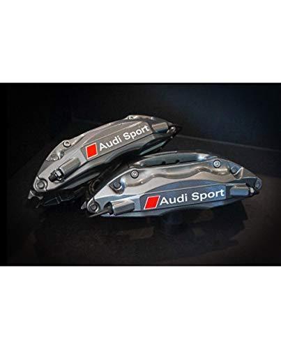 myrockshirt kompatibel für Audi Bremsenaufkleber Bremssattel kompatibel für Audi Sport 4Stück Aufkleber Autoaufkleber Sticker Decal Profi-Qualität ohne Hintergrund
