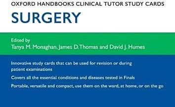 Oxford Handbooks Clinical Tutor Study Cards: Surgery (Oxford Handbooks Study Cards)