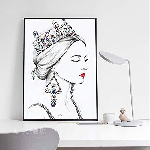 Diamant Schilderij 5D Handgemaakte Slaapkamer Woonkamer Cartoon Karakter Ronde Diamant Zonder Doos 40 x 50 cm Vollbohrer
