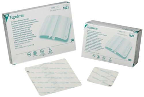 3M 1620 Tegaderm Transparent Film Dressing First Aid Style (Pack of 100)