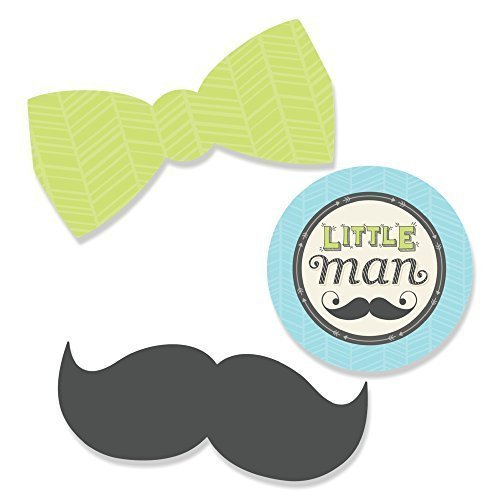 Big Dot of Happiness Dashing Little Man Mustache Party - DIY Shaped Baby Shower or Birthday Party Cut-Outs - 24 Count