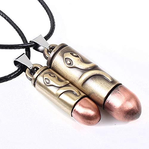 maozuzyy Collar Colgante Joyería Pareja De Joyas Collar De Serpiente Y Colgantes De Acero De Titanio para Hombres Y Mujeres