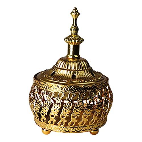 B Blesiya Soporte para Quemador de Incienso de Metal de Oriente Medio de Estilo Vintage, Decoraciones para el Templo - a