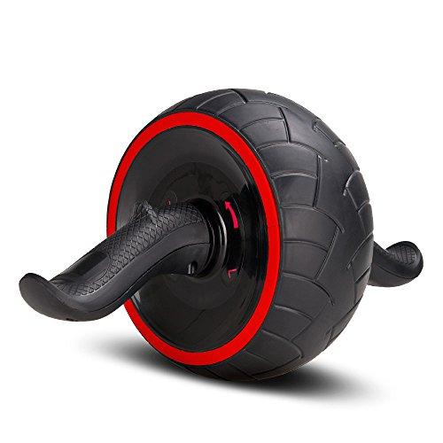 COVVY Fitness Bauchtrainer AB Carver Pro mit Knieauflage Für Fitness Bauchmuskeltraining Muskelaufbau Bauchroller für Frauen und Männer (Rot)