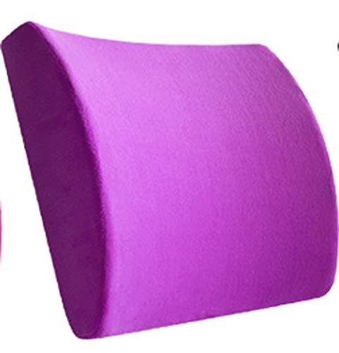 QSWL Cojin Lumbar Coche,Nuevo Respaldo Lumbar Soporte Esponja Memoria,Almohada Apoyo Lumbar Espalda por Silla Oficina (Color : Red, Size : 32x30x10cm)