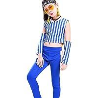 4種類お選べる! キッズダンス衣装 セットアップ 女の子 ダンス衣装 ガールズ チアダンス スカート パンツ 上下セット キッズ ダンス 衣装 ヒップホップ 衣装 (セット#2,110)