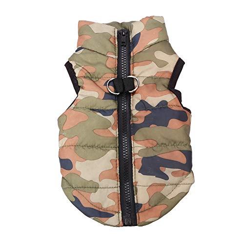 Zerodis Haustier Jacke warme Mäntel für Hunde Winter Herbst warme Baumwolle Jacken Katze Hund Mantel Kleidung Haustiere Bekleidung Kostüme(XS-Armeegrün)