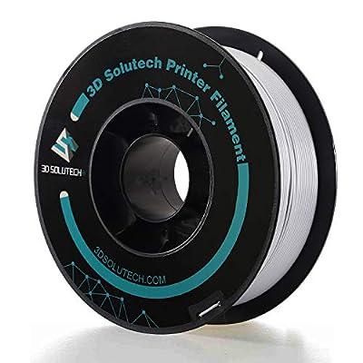 3D Solutech Silver Metal 3D Printer Premium PLA Filament 1.75MM Filament, 2.2 LBS (1.0KG)