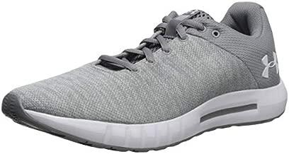 Under Armour Women's Micro G Pursuit Twist Running Shoe, Steel (100)/White, 5.5