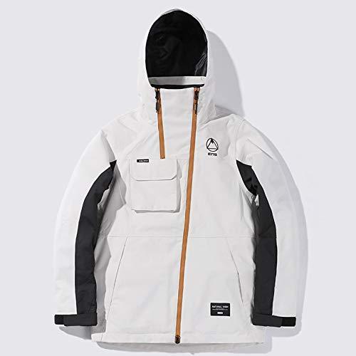 Yyqx Skianzüge Skianzug Herren- und Damen Single-Board Doppel-Board verdickter wasserdichter und Warmer Skijacke Overalls Winter Outdoor Schneeanzüge (Color : White, Size : Medium Size)