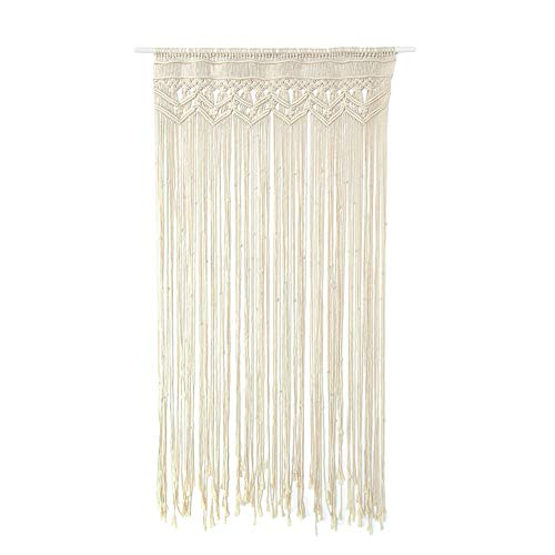 LeKing Tapicería tejida a mano, cortina de cuerda de algodón, cortina de boda, cortina decorativa,macrame cortinas(bolsa de plástico)
