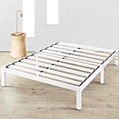 Sturdy 100% steel construction with patented heavy duty steel slats support both you and your mattress. Added legs increase points of contact to the floor for superior stability. Clean, simple edges create a modern design, perfect for minimalists. 11...