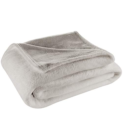 Cosy House Collection King/Cal King Size Fleece Blanket – All Season Lightweight amp Plush Hypoallergenic  Microfiber Blankets for Bed Couch or Travel  Silver