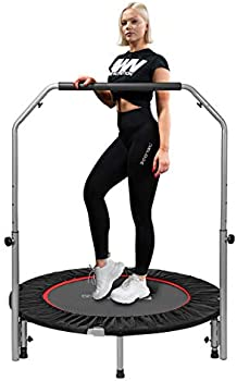 Vivohome 40 Inch Foldable Fitness Trampoline with Adjustable Handle