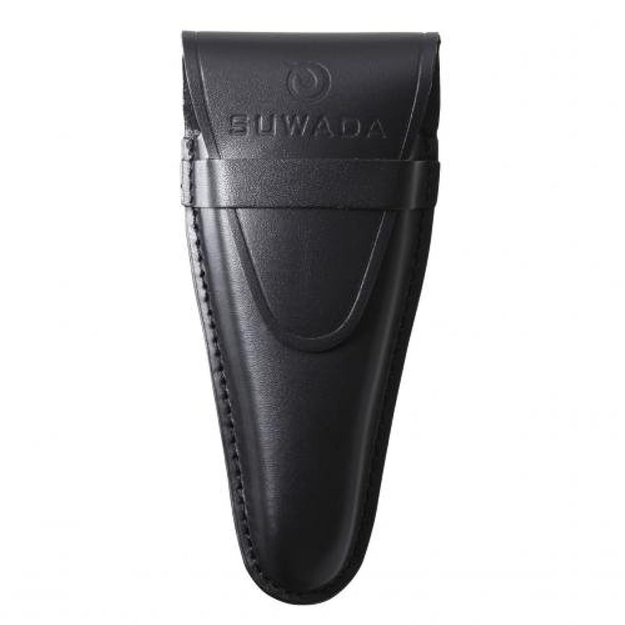 精通した聖歌怖がらせる【SUWADA】 爪切り用本革ケースクラシックL用 色=ブラック