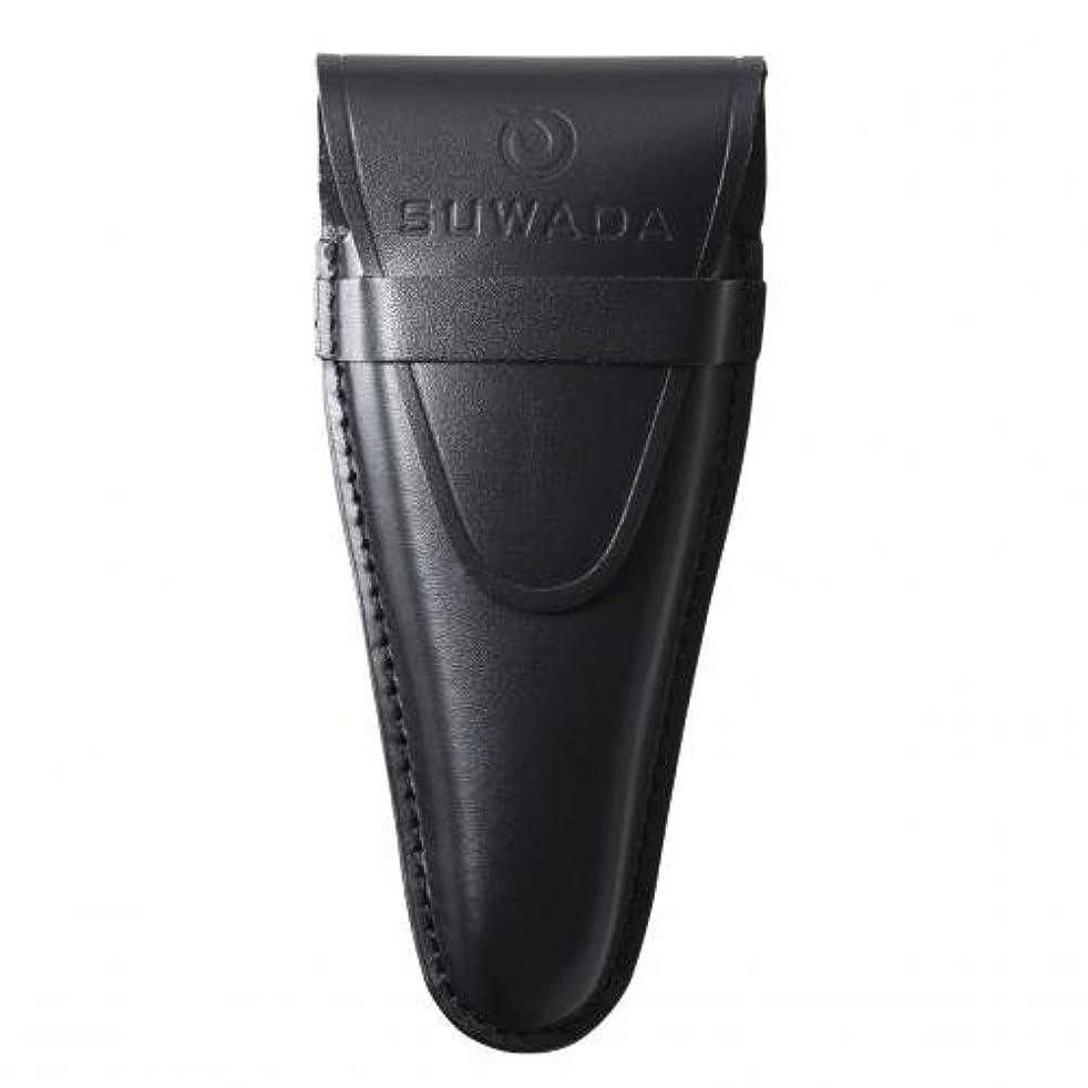 朝ごはん群衆見る人【SUWADA】 爪切り用本革ケースクラシックL用 色=ブラック
