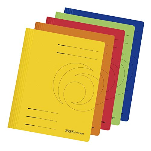 Herlitz 11037181 Schnellhefter A4 Karton gefaltet farbig sortiert 10er Packung