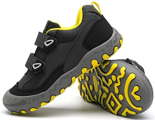 Mishansha Zapatos de Running Niños Transpirable Caminar Zapatos de Deporte Outdoor Antideslizante Ligeras Zapatillas de Deportivas Gris Gr.34