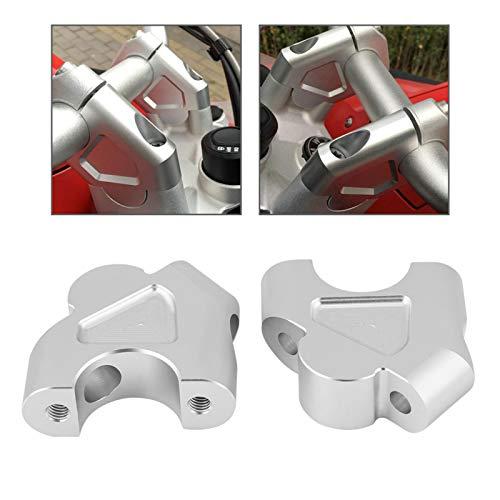 Adattatori per l'altezza del manubrio, Morsetto per l'altezza del manubrio della bici Morsetto per l'altezza del manubrio per moto Morsetto per riser di facile utilizzo Mountain bikeBici da(D'argento)