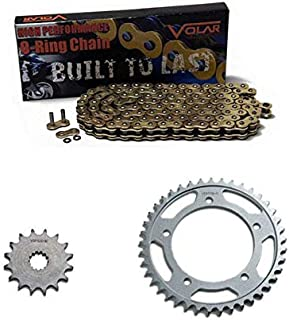 Volar O-Ring Chain and Sprocket Kit - Gold for 2006-2015 Yamaha FZ1