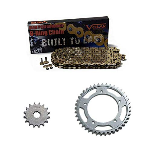 Volar O-Ring Chain and Sprocket Kit - Gold for 2003-2005 Yamaha YZF R6
