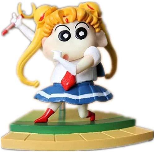 YUSHIJIA Regalos De Juguete Modelo De Personaje Crayou Shin-Chan Figura Sailor Moon & Naruto Style Figure Anime Figura Figura de acción (Color: Luffy) Estatua de PVC (Color : Sailor Moon)
