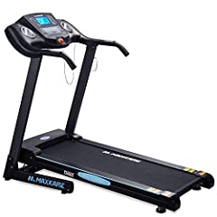 【MaxKare Electric Treadmill】DEMINSION: The wide running belt size is 43.5 in* 17in. Treadmill using size is 52in(L)*26.2in(W)*45.3in(H) / foldi-up size 36.6in(L)*26.6in(W)*45.3(H). Max. weight capacity is 220LBS which suits for majority of people. 【1...