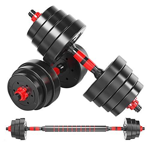 EIIDJFF Mancuernas Ajustables Inicio Fitness Ajustable Dumbbell Barbell Equipo De Entrenamiento para Hombres Y Mujeres Trabaja En Los Músculos del Ejercicio (Talla : 20kg)
