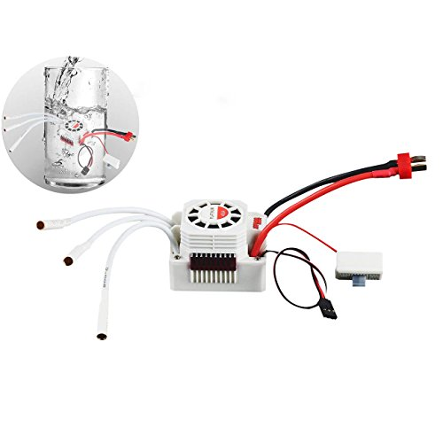 Crazepony-UK 3650 3660 3665 Waterproof 60A ESC Electronic Speed Controller for 1/10 RC Car
