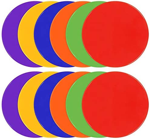 TuXHui Spot Markers 9 Inch 10 Inch Non Slip Rubber Agility Markers Flat Field Cones Floor Dots product image