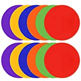TuXHui Spot Markers 9 Inch 10 Inch Non Slip Rubber Agility Markers Flat Field Cones Floor ...
