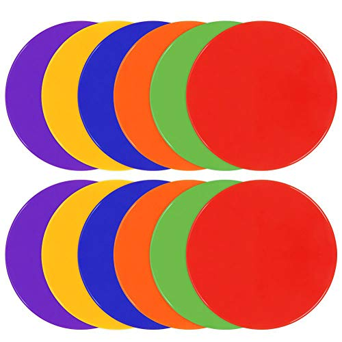 TuXHui Spot Markers 9 Inch 10 Inch Non Slip Rubber Agility Markers Flat Field Cones Floor Dots for Soccer Basketball Sports Speed Agility Training and Drills
