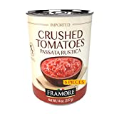 FRAMORE Crushed Peeled Tomatoes in puree canned fourteen ounce bulk case of 6 Authentic Italian...