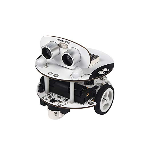 Programmable Smart Robot Car Kit Arduino Robot Kit STEM Toy Qbot Scratch 3.0 with Ultrasonic Sensor, Line Tracking Sensor, Bluetooth Module, Infrared Remote Control, Mobile APP for Education