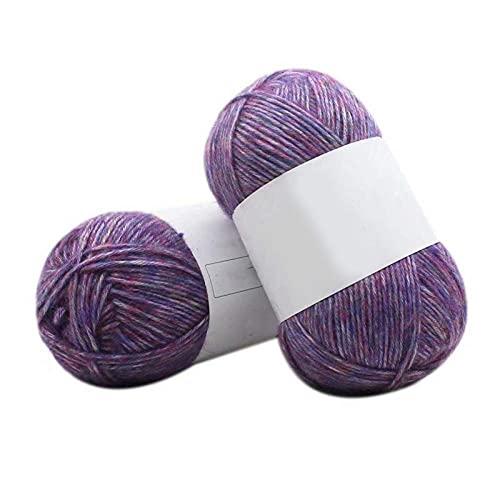 DealMux Hilo de algodón con leche tejido a mano, lana natural multicolor, cálida y suave.