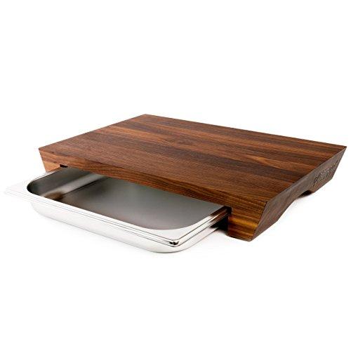 cleenbo - Tabla de Corte Walnut Style Tabla de Cocina Profes