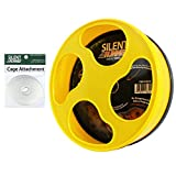 Exotic Nutrition Silent Runner 9' - Wheel + Cage Attachment (NO Stand) - for Hamsters, Gerbils, Mice