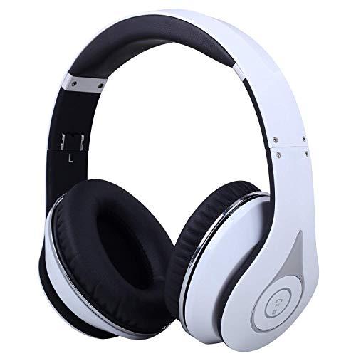 August EP640 Bluetooth v4.1 aptX NFC Kopfhörer - Over-Ear Stereo Headset (weiß)