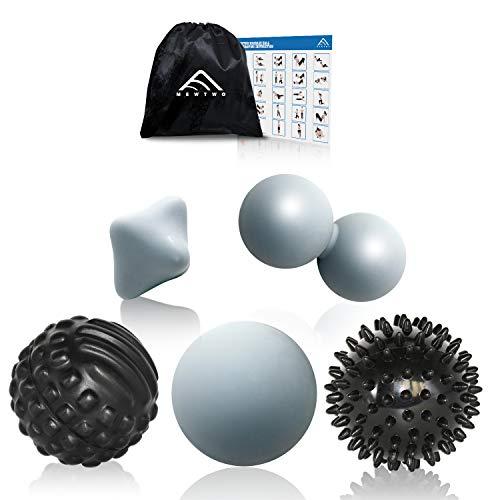 Massageball, Mewtwo FaszienBall Set Selbstmassage, Premium 7er Pack Faszien Werkzeuge zur Training Fitness Nacken Schulter Rücken Fuß Selbstmassage von Triggerpunkten älle