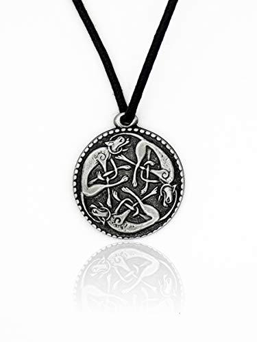 Eviltailors Colgante Perros Celtas Caceria Salvaje Estilo Nórdico Medieval para Hombre y Mujer Aleación