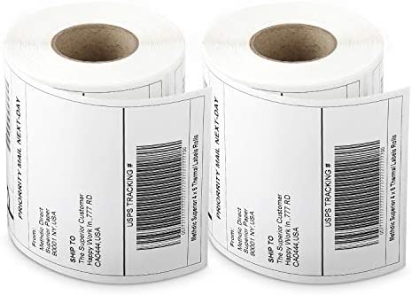Methdic 4x6 Direct Thermal Shipping Labels for UPS USPS 250 Labels 2 Rolls product image