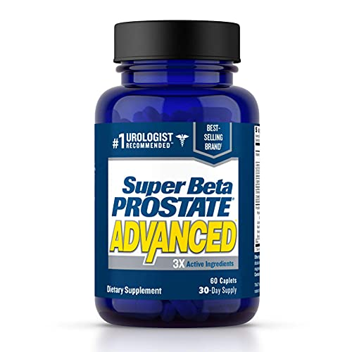 Super Beta Prostate Advanced Prostate Supplement for Men – Reduce Bathroom Trips, Promote Sleep, Support Urinary Health & Bladder Emptying. Beta Sitosterol not Saw Palmetto. (60 Caplets, 1-Bottle)
