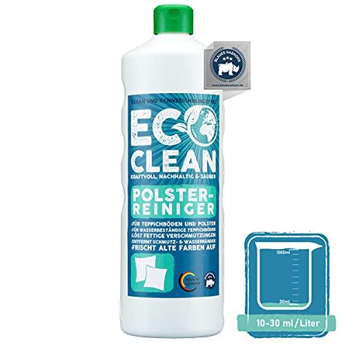 Eco Clean Limpiador de alfombras 1L - Limpiador de sofás de tela eficaz - muy suave- limpia alfombras, restaura el color - espuma limpia tapicerías coche antiestática